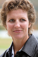 2004 inductee Michelle Akers about to be introduced on Monday October 11, 2004 at the National Soccer Hall of Fame and Museum, Oneonta, NY..