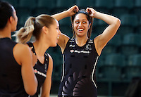 24.10.2015 Silver Ferns Phoenix Karaka in action during the Silver Ferns training head of their netball test match against the Australian Diamonds in Melbourne. Mandatory Photo Credit ©Michael Bradley.