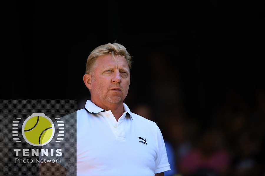 Wimbledon, 2/7/2014<br /> <br /> Boris BECKER (GER)<br /> <br /> <br /> © Ray Giubilo/ Tennis Photo Network