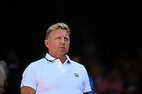 Wimbledon, 2/7/2014<br /> <br /> Boris BECKER (GER)<br /> <br /> <br /> &copy; Ray Giubilo/ Tennis Photo Network