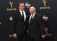 Jimmy Smits + Dennis Frantz @ the 2016 Emmy Awards held @ the Microsoft theatre. September 18, 2016