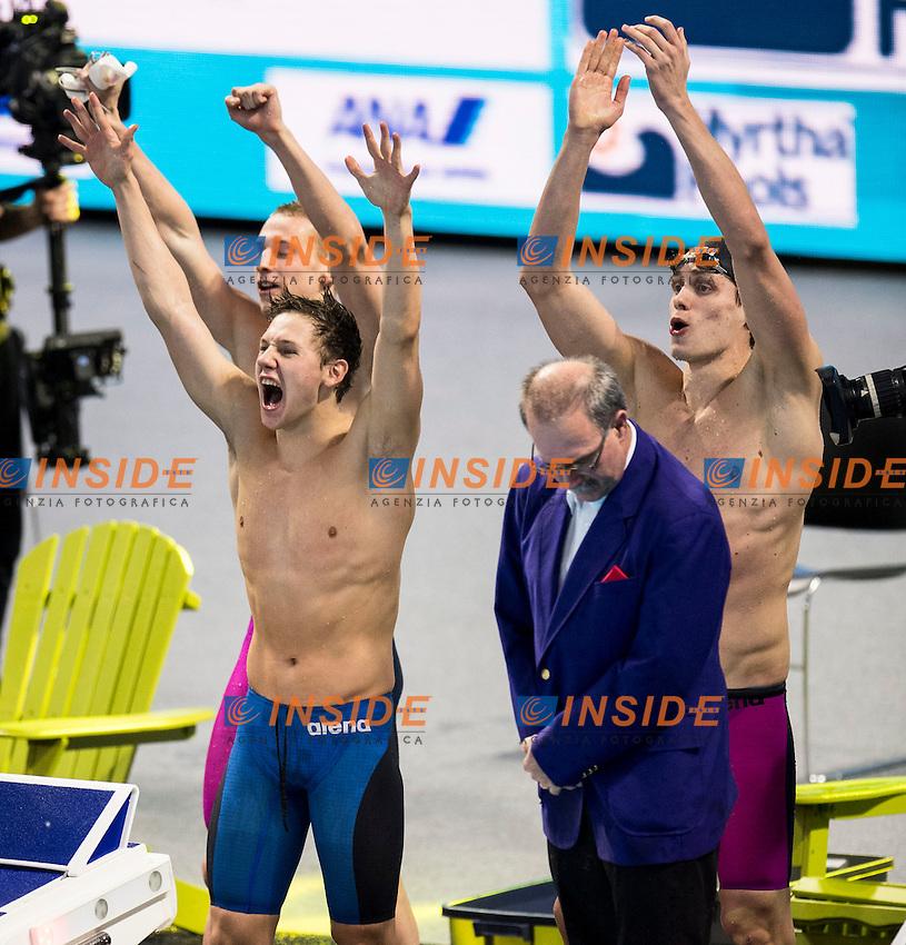 Russia RUS Gold Medal <br /> SHABASOV Andrei PRIGODA Kirill KHARLANOV Aleksandr MOROZOV Vladimir <br /> Men's 4x100m Medley Relay<br /> 13th Fina World Swimming Championships 25m <br /> Windsor  Dec. 11th, 2016 - Day06 Finals<br /> WFCU Centre - Windsor Ontario Canada CAN <br /> 20161211 WFCU Centre - Windsor Ontario Canada CAN <br /> Photo &copy; Giorgio Scala/Deepbluemedia/Insidefoto
