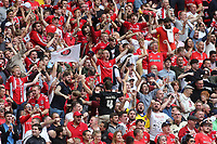 Charlton fans celebrate their opening goal during Charlton Athletic vs Sunderland AFC, Sky Bet EFL League 1 Play-Off Final Football at Wembley Stadium on 26th May 2019