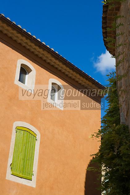 Europe/France/Languedoc-Roussillon/30/Gard / Saint-Quentin-la-Poterie:Détail d'une maison du village