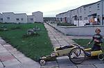 Lerwick, boys with home made go carts.  1979 Shetlands. 1970s UK