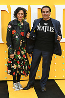 "LONDON, UK. June 18, 2019: Meera Syal and Sanjeev Baskhar arriving for the UK premiere of ""Yesterday"" at the Odeon Luxe, Leicester Square, London.<br /> Picture: Steve Vas/Featureflash"