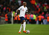 27th March 2018, Wembley Stadium, London, England; International Football Friendly, England versus Italy; Ashley Young of England on the ball