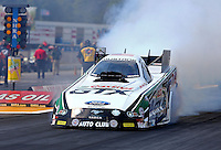 Aug. 18, 2013; Brainerd, MN, USA: NHRA funny car driver John Force during the Lucas Oil Nationals at Brainerd International Raceway. Mandatory Credit: Mark J. Rebilas-