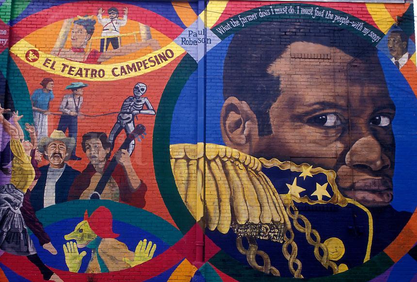 AJ3938, wall mural, Atlanta, Georgia, L5P, Mural painting at Little Five Points in Atlanta in the state of Georgia.
