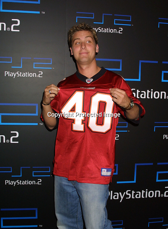©2003 KATHY HUTCHINS / HUTCHINS PHOTO.Playstation 2 .Super Bowl After Party.W HOTEL.San Diego, CA.January 26, 2003.LANCE BASS