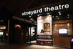Theatre Marquee for the Opening Celebration of 'Checkers' at the Vineyard Theatre in New York City on 11/11/2012
