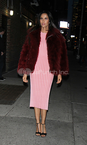 NEW YORK, NY December 05:  Padma Lakshmi at The Late Show with Stephen Colbert in New York .December 05, 2016. Credit:RW/MediaPunch