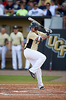 UCF Knights third baseman Kam Gellinger (3) at bat during a game against the Siena Saints on February 21, 2016 at Jay Bergman Field in Orlando, Florida.  UCF defeated Siena 11-2.  (Mike Janes/Four Seam Images)