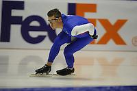SCHAATSEN: HEERENVEEN: IJsstadion Thialf, 06-02-15, Training World Cup, Tyler Derraugh (USA), ©foto Martin de Jong