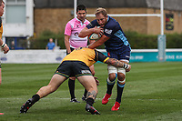 Mark Bright (Captain) of London Scottish during the Greene King IPA Championship match between London Scottish Football Club and Ealing Trailfinders at Richmond Athletic Ground, Richmond, United Kingdom on 8 September 2018. Photo by David Horn.