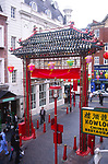 AWFP5B Large arches at entrance to Chinatown Soho London England