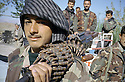 Iraq 2000.Portrait of a young PUK peshmerga on the road to Koysanjak.<br />