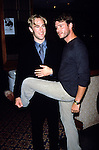 "James Van Der Beek & Scott Foley of ""Felicity"" at the WB Primetime Upfront in New York City on May 16th, 2000."