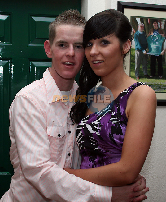 Damien Boyle with his girlfriend Kiara Tiernan at his 21st in the Rugby Club...Photo NEWSFILE/Jenny Matthews.(Photo credit should read Jenny Matthews/NEWSFILE)....This Picture has been sent you under the condtions enclosed by:.Newsfile Ltd..The Studio,.Millmount Abbey,.Drogheda,.Co Meath..Ireland..Tel: +353(0)41-9871240.Fax: +353(0)41-9871260.GSM: +353(0)86-2500958.email: pictures@newsfile.ie.www.newsfile.ie.FTP: 193.120.102.198.
