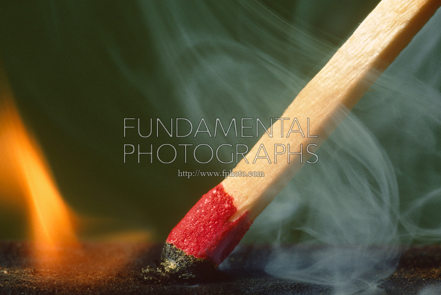 MATCHES<br /> Striking a Match Against Striking Surface<br /> Matches ignite due to the extreme reactivity of red phosphorus found in the striking surface with the potassium chlorate in the match head.