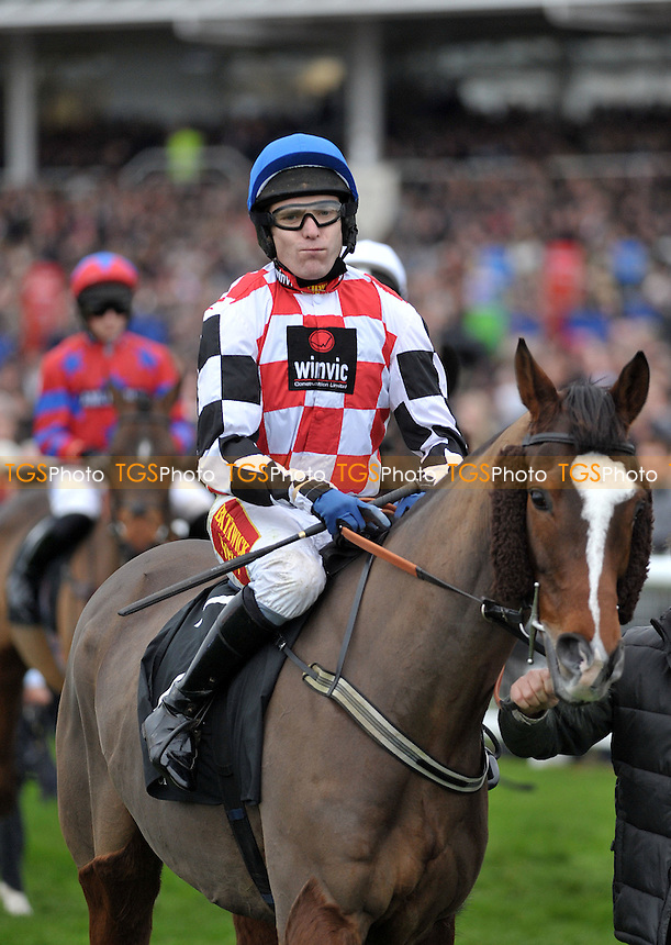 Tom Scudamore riding The Giant Bolster before the Hennessy Gold Cup Chase  at Newbury Racecourse, Berkshire - 26/11/2011 - MANDATORY CREDIT: Martin Dalton/TGSPHOTO - Self billing applies where appropriate - 0845 094 6026 - contact@tgsphoto.co.uk - NO UNPAID USE.