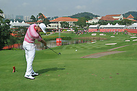 Kevin Chappell (USA) on the 14th tee during Round 3 of the CIMB Classic in the Kuala Lumpur Golf & Country Club on Saturday 1st November 2014.<br /> Picture:  Thos Caffrey / www.golffile.ie