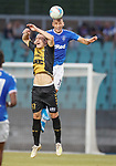 01.08.2019 Progres Niederkorn v Rangers: Nikola Katic and Florik Shala