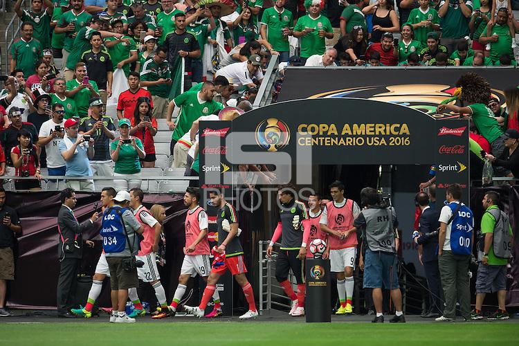 Action photo during the match Mexico vs Uruguay, Corresponding Group -C- America Cup Centenary 2016, at University of Phoenix Stadium<br /> <br /> Foto de accion durante el partido Mexico vs Uruguay, Correspondiante al Grupo -C-  de la Copa America Centenario USA 2016 en el Estadio de la Universidad de Phoenix, en la foto: Jose de Jesus Corona y Guillermo Ochoa de Mexico<br /> <br /> <br /> 05/06/2016/MEXSPORT/Jorge Martinez.