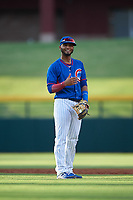 AZL Cubs 2 shortstop Josue Huma (13) during an Arizona League game against the AZL Reds on July 23, 2019 at Sloan Park in Mesa, Arizona. AZL Cubs 2 defeated the AZL Reds 5-3. (Zachary Lucy/Four Seam Images)