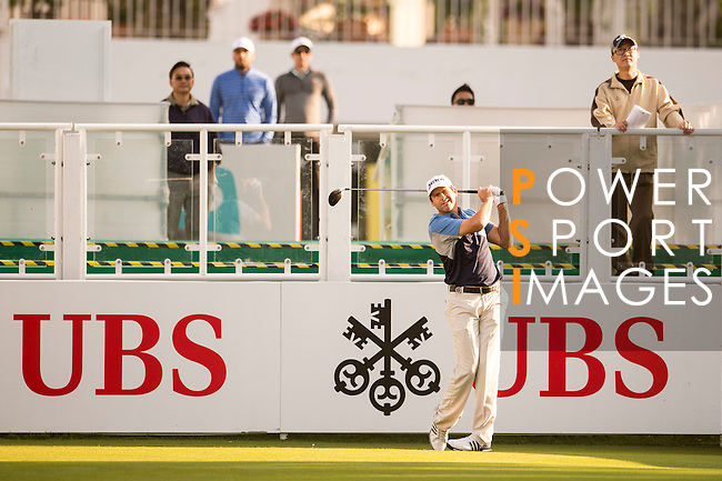 Jason Knutzon of USA tees off the first hole during the 58th UBS Hong Kong Open as part of the European Tour on 08 December 2016, at the Hong Kong Golf Club, Fanling, Hong Kong, China. Photo by Marcio Rodrigo Machado / Power Sport Images