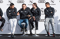 Carlos Henrique Casemiro, Keylor Navas, Mateo Kovacic and Raphael Varane of Real Madrid CF poses for a photograph after being presented with a new Audi car as part of an ongoing sponsorship deal with Real Madrid at their Ciudad Deportivo training grounds in Madrid, Spain. November 23, 2017. (ALTERPHOTOS/Borja B.Hojas) /NortePhoto.com NORTEPHOTOMEXICO