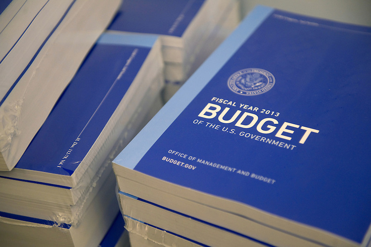 UNITED STATES - FEBRUARY 13: The FY 2013 Federal Budget is delivered to the Canon House office building in Washington, D.C. (Photo By Chris Maddaloni/CQ Roll Call)