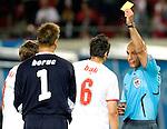 Jacek Bak and Howard Webb at Euro 2008 Austria-Poland 06122008, Wien, Austria