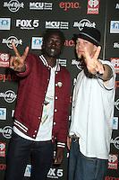 NEW YORK, NY - OCTOBER 04: Emmanuel Jal and Chris Rene at Hard Rock Rocks Times Square at Hard Rock Cafe, Times Square on October 4, 2012 in New York City. ©RW/MediaPunch Inc.