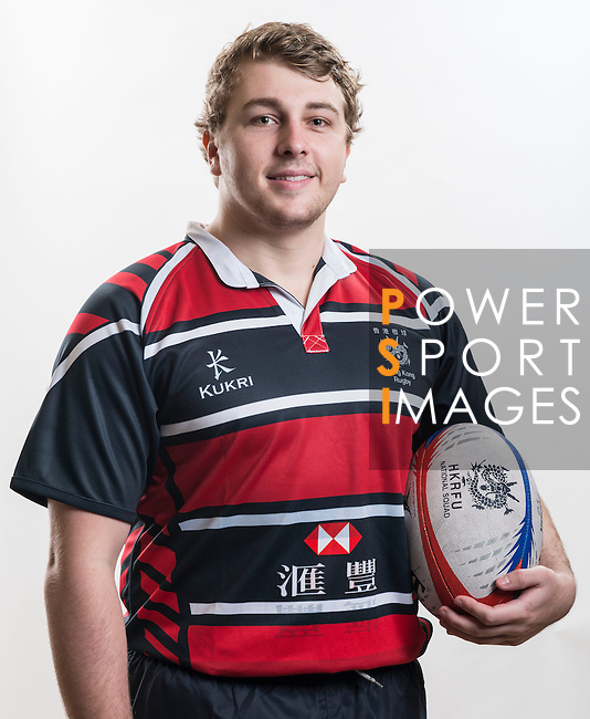 Hong Kong Junior Squad team member Patrick Cook poses during the Official Photo Session Day at King's Park Sports Ground ahead the Junior World Rugby Tournament on 25 March 2014. Photo by Andy Jones / Power Sport Images