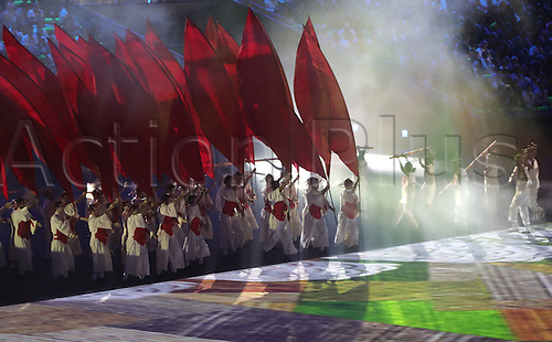 05.08.2016. Rio de Janeiro, Brazil.  Dancers perform during the opening ceremony of the Rio 2016 Olympic Games at the Maracana stadium in Rio de Janeiro, Brazil, 5th August 2016.