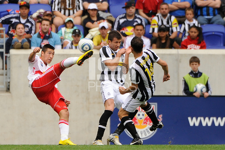 Connor Chinn (25) of the New York Red Bulls plays the ball. The New York Red Bulls defeated Juventus F. C. 3-1 during a friendly at Red Bull Arena in Harrison, NJ, on May 23, 2010.