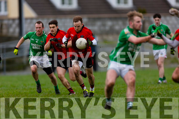 In Action Glenbeigh/Glencar's Darran O'Sullivan and Gavan O'Grady get through at  The Mid Kerry Senior Football Championship Final Glenbeigh/Glencar v Milltown/Castlemaine at Killorglin GAA on Sunday