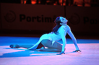 Anna Bessonova of Ukraine performs gala exhibition at 2010 World Cup at Portimao, Portugal on March 14, 2010.  (Photo by Tom Theobald).