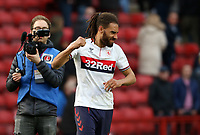 Ryan Shotton of Middlesbrough celebrates in front of the Middlesbrough fans during Charlton Athletic vs Middlesbrough, Sky Bet EFL Championship Football at The Valley on 7th March 2020