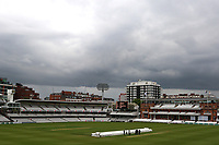 Dark clouds over the ground as bad light halts play again during Middlesex CCC vs Essex CCC, Specsavers County Championship Division 1 Cricket at Lord's Cricket Ground on 24th April 2017