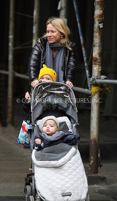 WWW.ACEPIXS.COM . . . . .  ....February 9 2010, New York City....Actress Naomi Watts took her sons Alexander and Samuel for a spin through Soho in their stroller on February 9 2010 in New York City....Please byline: PHILIP VAUGHAN - ACE PICTURES.... *** ***..Ace Pictures, Inc:  ..Philip Vaughan (212) 243-8787 or (646) 679 0430..e-mail: info@acepixs.com..web: http://www.acepixs.com
