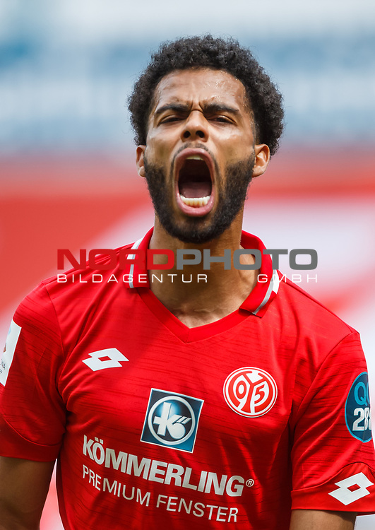 Jeremiah St. Juste (FSV Mainz 05) schreit beim Jubeln, <br /> <br /> Sport: Fussball: 1. Bundesliga:: nphgm001:  Saison 19/20: 33. Spieltag: 1. FSV Mainz 05 vs SV Werder Bremen 20.06.2020<br /> Foto: Neis/Eibner/Pool/via gumzmedia/nordphoto<br />