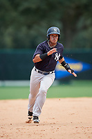 GCL Yankees West first baseman Jesus Graterol (31) runs the bases during the second game of a doubleheader against the GCL Braves on July 30, 2018 at Champion Stadium in Kissimmee, Florida.  GCL Braves defeated GCL Yankees West 5-4.  (Mike Janes/Four Seam Images)