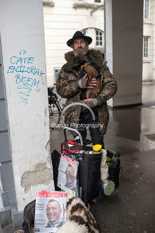 Klaus som er hjemløs og sælger Hus Forbi