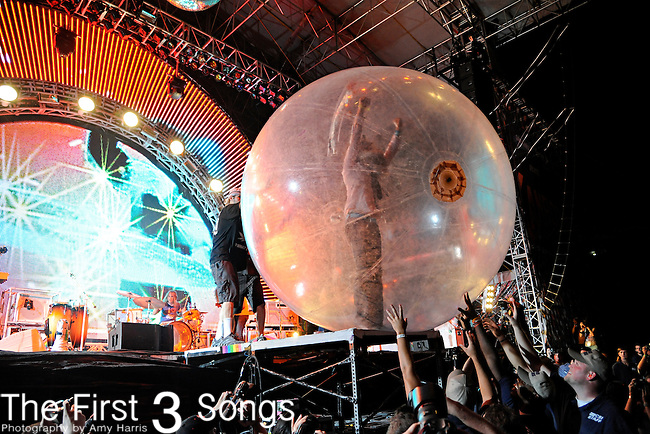 Wayne Coyne of The Flaming Lips performs during day 1 of the 2011 Kanrocksas Music Festival at Kansas Speedway in Kansas City, Kansas on August 5, 2011.