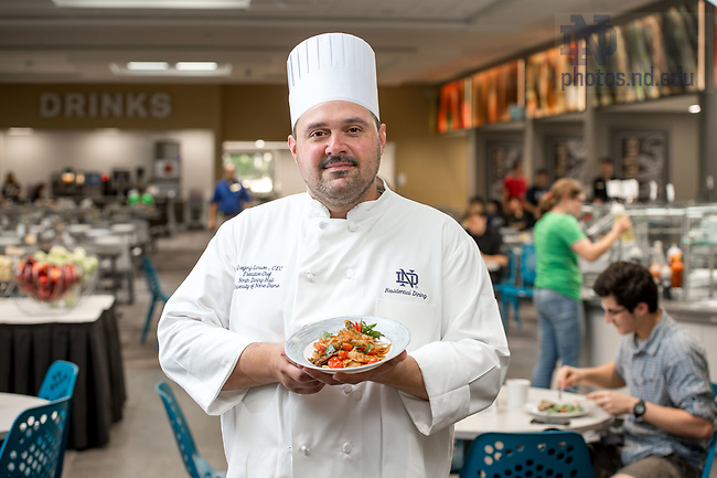 September 21, 2017; North Dining Hall Executive Chef Gregory Larson (Photo by Matt Cashore/University of Notre Dame)