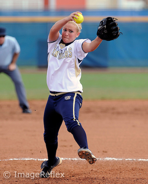 17 February 2008: Florida International pticher Holly Satterfield (11) pitches in the Illinois State 8-1 victory over FIU in the 2008 Schutt Sports Invitational at FIU University Park in Miami, Florida.