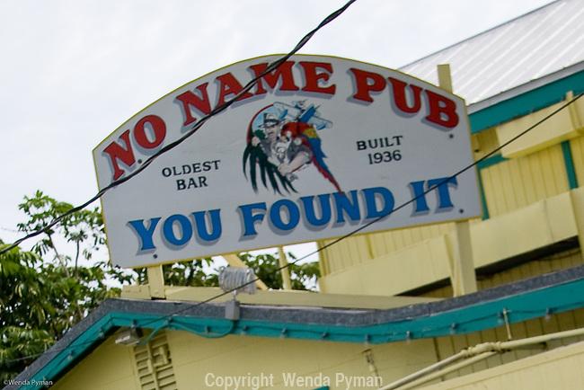 No Name Pub sign.