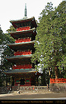 Gojunoto Five Story Pagoda Nikko Toshogu Shrine Nikko Japan